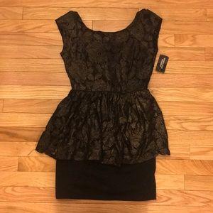 Peplum dress.